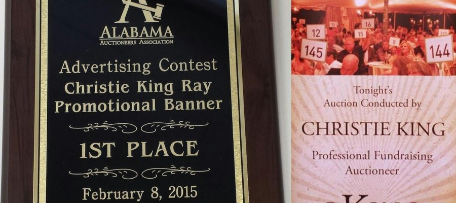 C King Benefit Auctions banner wins 1st Place