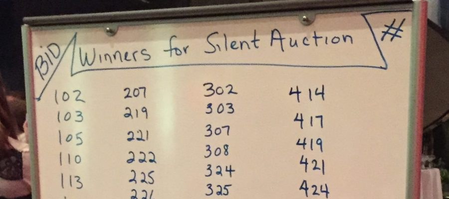 Silent Auction Winners Display