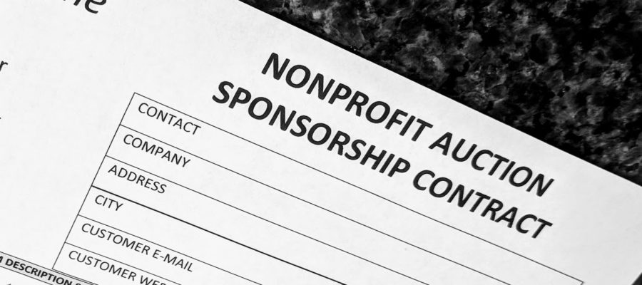 Don't forget to grab some sponsorships for your next charity auction event!