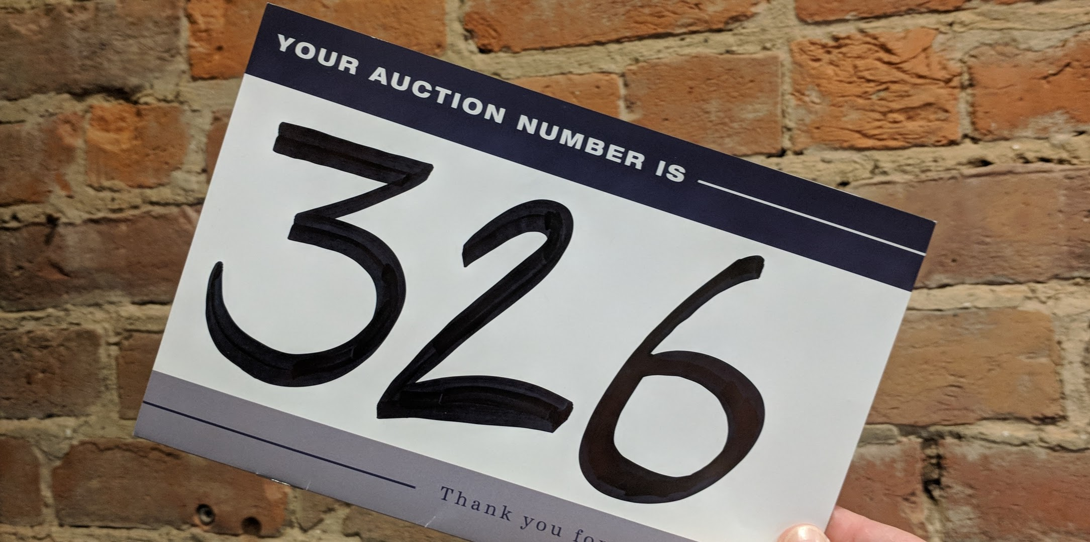 Turn In Your Bid Number to Give